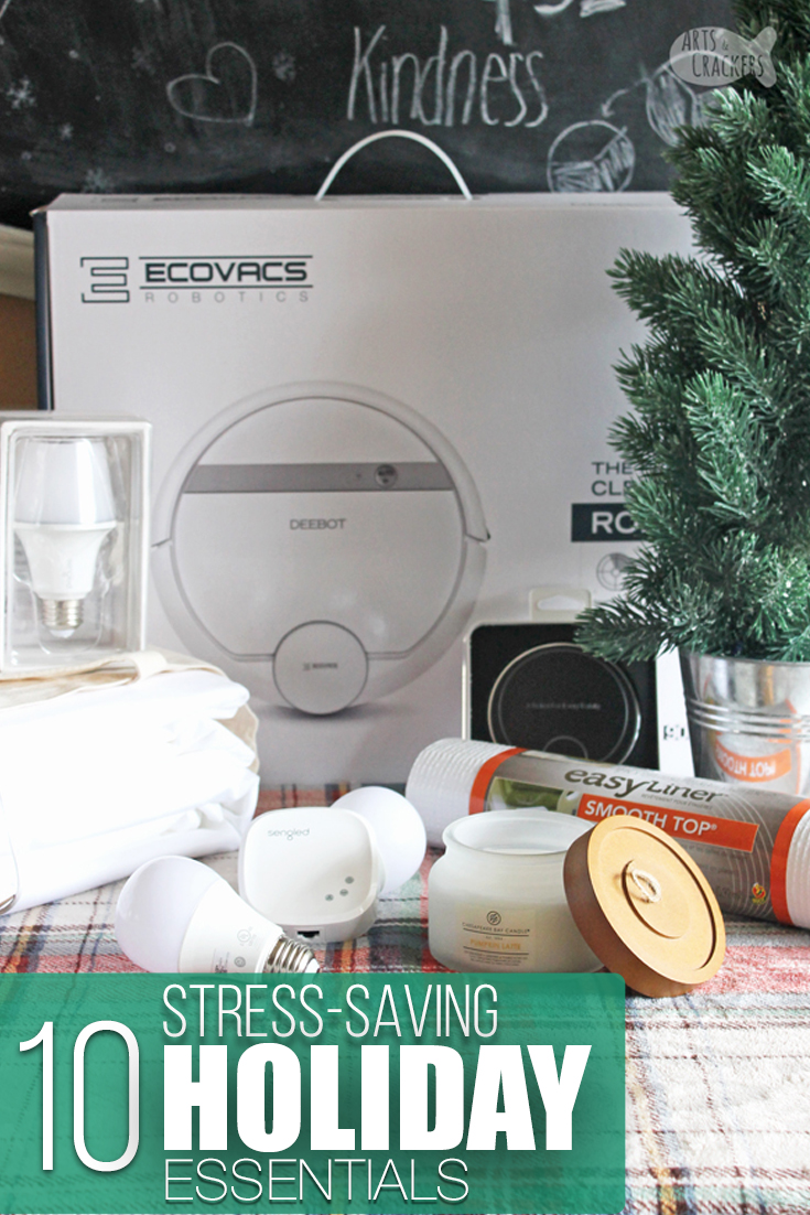 The holidays can be such a busy, stressful time of year, but they don't have to be! These holiday home essentials and tips will help you navigate holiday stress and enjoy the season | household essentials | holiday tips | smart home | holiday planning | Christmas | home goods | home products | gift ideas #holidays #Christmas