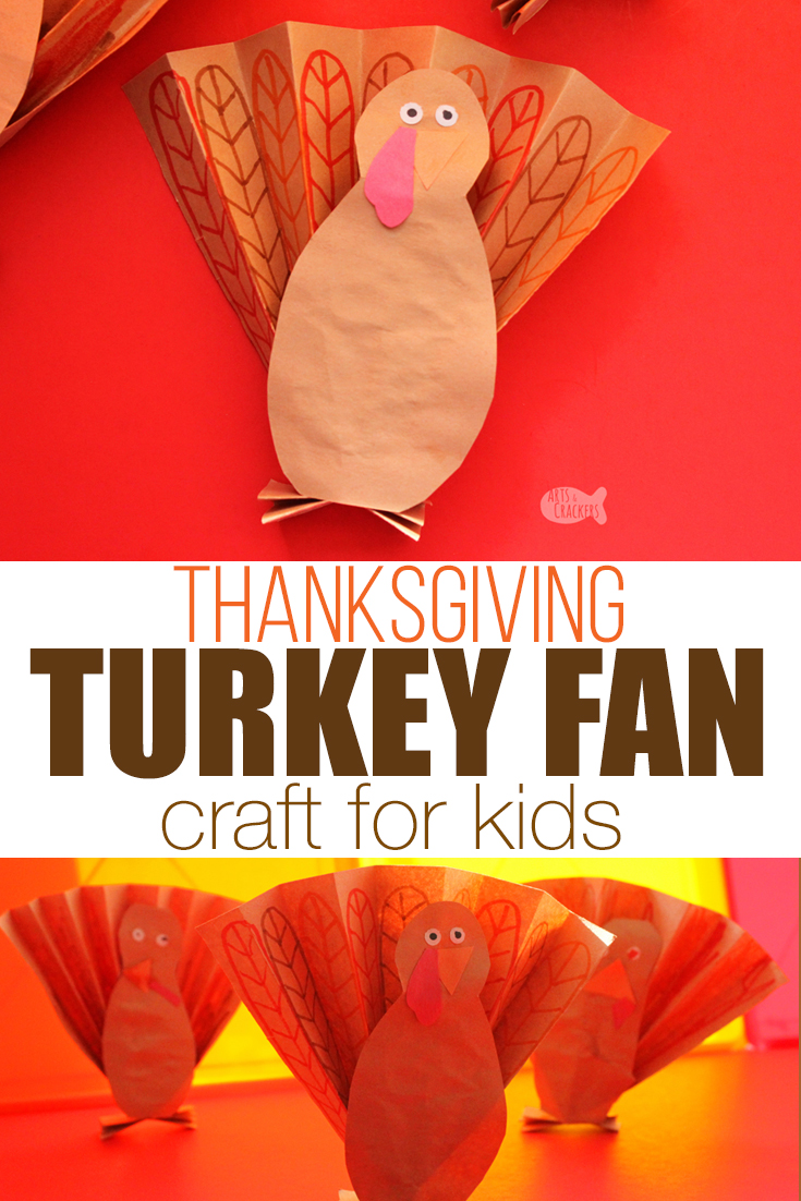 Kids will love this Thanksgiving turkey craft for kids. Create a fun turkey fan paper craft and discover so many fun ways to play | crafts for kids | Thanksgiving craft | Thanksgiving for kids | Construction paper crafts | Easy Kids Crafts #craftsforkids #thanksgiving