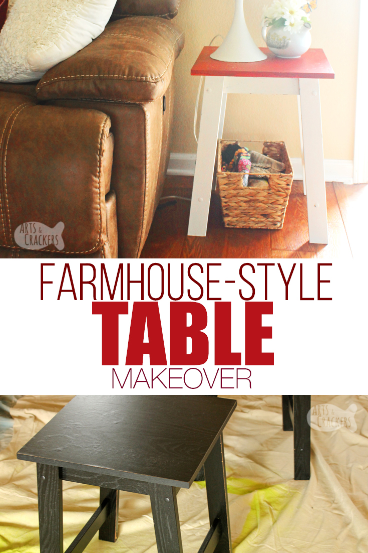 Diy Farmhouse Side Table Makeover Cheap Farmhouse Decor