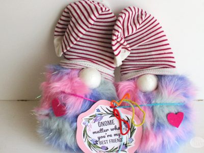 Show someone you care this Valentine's Day with this Cute Gnome Valentines Gift | fuzzy slippers | garden gnome | gift ideas for her | Valentine's Day gift | best friend gift | gnome Valentines | Valentines gift for her | sock gnomes #valentinesdaygift #giftsforher #gnome
