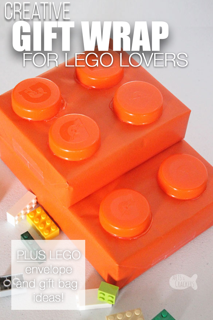 Surprise a LEGO lover with this creative gift wrapping idea and gift ideas for LEGO lovers | LEGO fan | LEGO brick | LEGO wrapping paper | LEGO gift wrap | unique gift wrap | birthday gift wrap | how to wrap gifts | wrapping presents | LEGO birthday | LEGO cards | LEGO gift bag | LEGO gift ideas | Personalized Minifigures | birthdays for boys #lego #wrappinggifts #birthdaysforkids