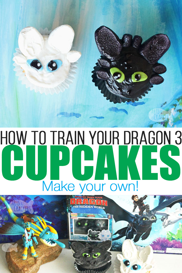 "Host a ""How To Train Your Dragon 3"" Movie Night or party with these adorable Dragon Cupcakes and the How to Train Your Dragon 3 Walmart Exclusive DVD Gift Set from Walmart 