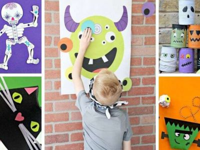 Have fun at home or in the classroom with these easy, non-spooky Halloween games and paper crafts | #halloween #kidsactivities Halloween | games for kids | paper crafts | halloween crafts | classroom activities | fun for kids | boredom busters | motor skills | OT | PT