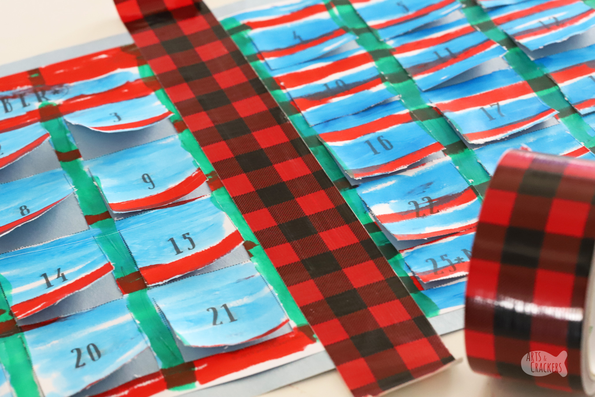 Get crafty with the kids and make this DIY Christmas Craft Advent Calendar for Kids as a fun countdown to Christmas! | Christmas crafts | kid crafts | kids activities | advent calendar | Christmas for kids | Christmas countdown | paper crafts | Kwik Stix | printables for kids | holidays for kids | winter holidays | Christmas crafting | crafty mom | #kidcrafts #christmas #papercrafts #advent